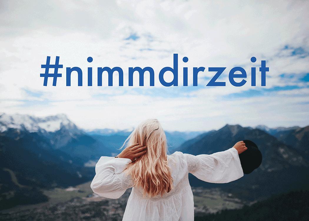 VONsociety: nimmdirzeit, Visual der Initiative von De'Longhi Österreich