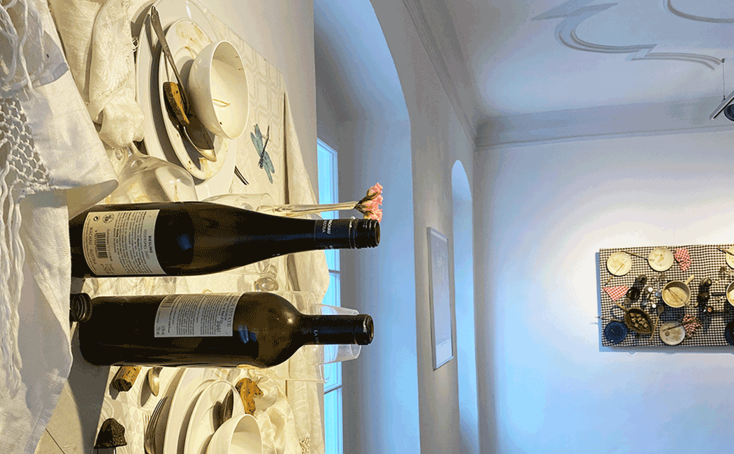 VONsociety: Close-up Daniel Spoerri Fallenbild im Ausstellungshaus Hadersdorf © Andrea Harris