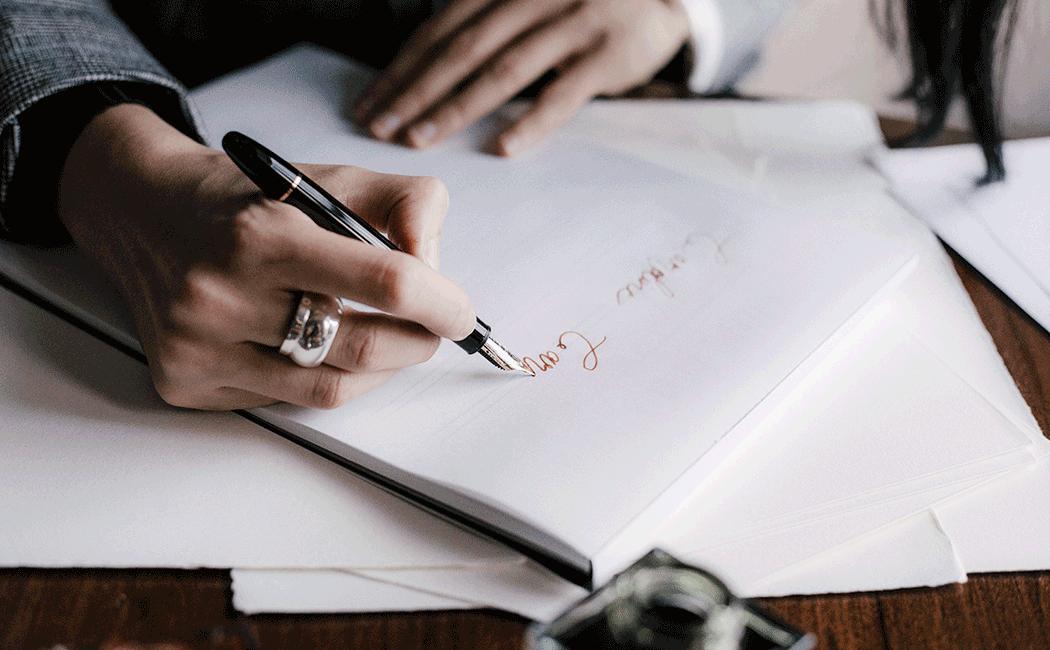 VONsociety: Handschreiben, Montblanc Calligraphy Füllfeder