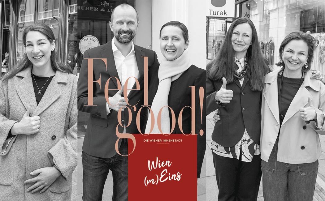 VONsociety: FEEL GOOD by VON Magazine Wien (m)Eins Unternehmer Huberta Sturzeis, Bettina und Jasmin Turek, Petra und Johannes Huber-Pock © Paul Harris