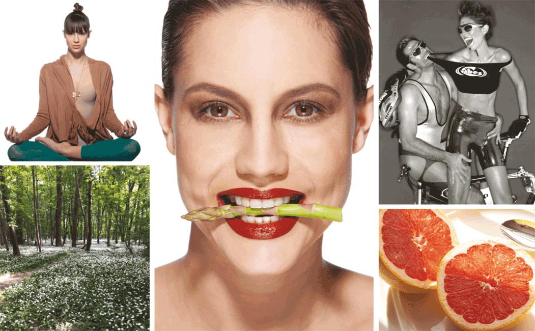 VONsociety: Starkes Immunstystem, Collage Sport, Spargel, Grapefruit, Praterau